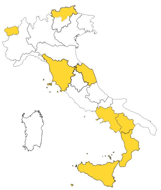 italy corona map